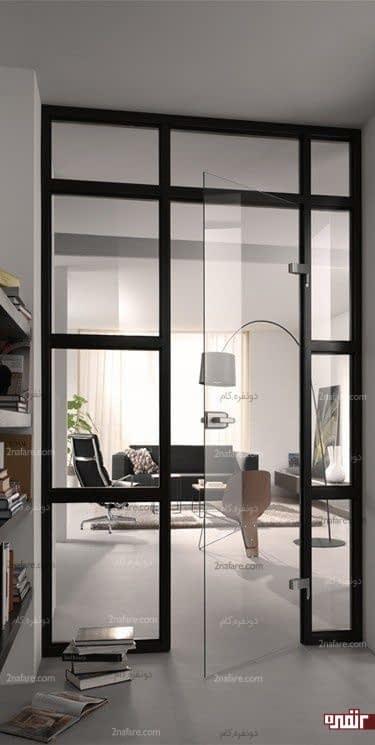 استفاده از شیشه ی بدون فریم در درب ها