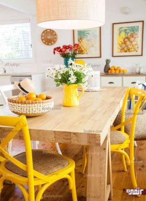 با رنگ های شاد دکوری متفاوت برای آشپزخانه به وجود بیارین