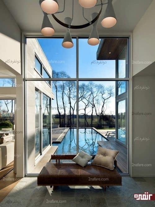 برای بهره مندی از نور طبیعی پنجره های دیواری را نپوشانید