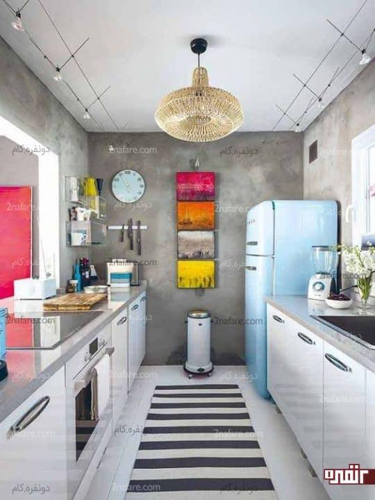 تابلوی زیبای طبیعت با رنگ های زیبا برای یه آشپزخانه ی زیبا