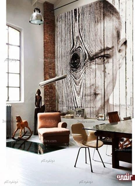 تابلوی زیبای چوبی با طرحی متفاوت و خاص