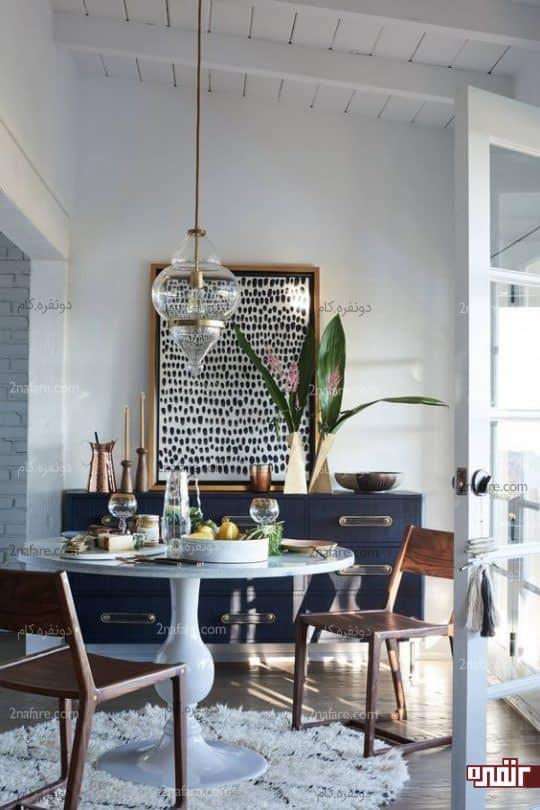 تابلو و اکسسوری های زیبا برای تزیین اتاق غذاخوری