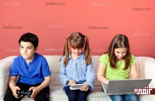 تاثیرات استفاده از گوشی و تبلت در کودکان