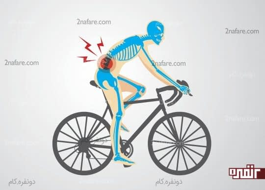 تاثیر دوچرخه سواری بر روی کمر درد