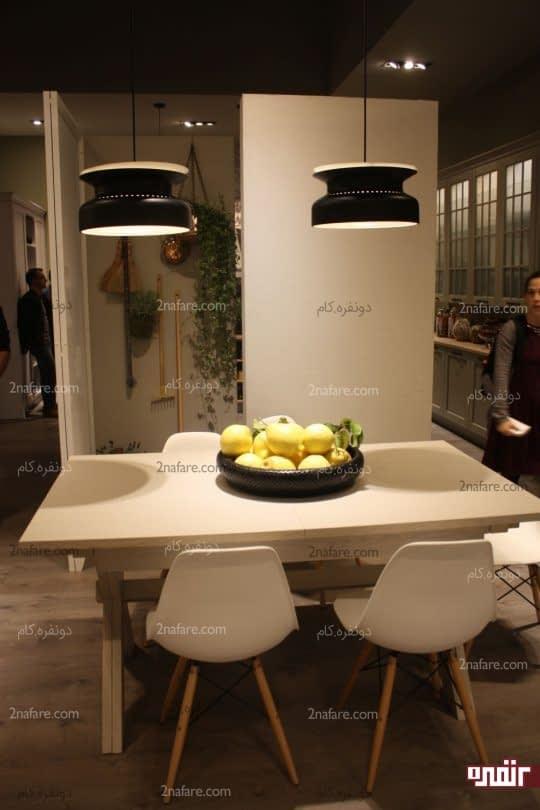 تامین نور کافی در بالای میز غذاخوری