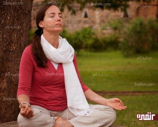 تنفس آرام و عمیق با یوگا