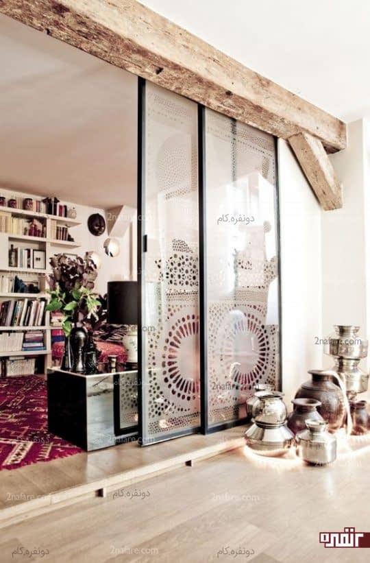 جداسازی فضاها با درب های کشویی شیشه ای