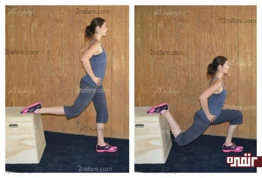 جهش یک پا برای تقویت ران