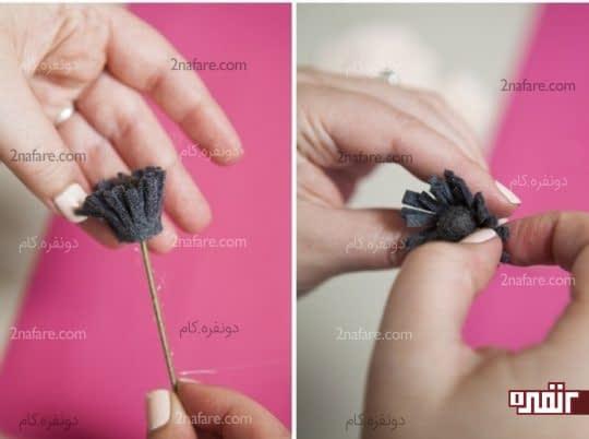 حالت دادن برش های پرچم گل با دست