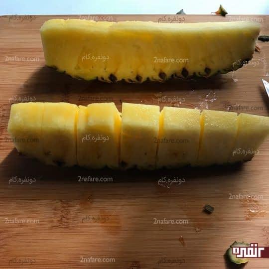 خورد کردن آناناس