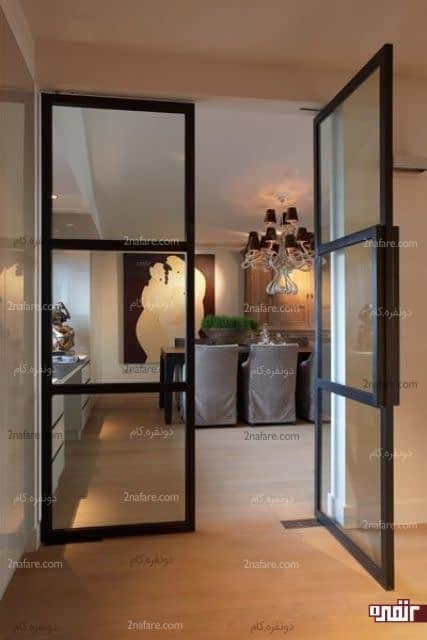 درب های شیشه ای مدرن در خانه های مدرن