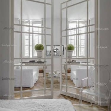 درب های شیشه ای کلاسیک و فرانسوی با فریم رنگ آمیزی شده و بسیار زیبا