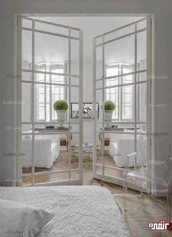 درب های شیشه ای ایده ای زیبا و بکر در دکوراسیون داخلی