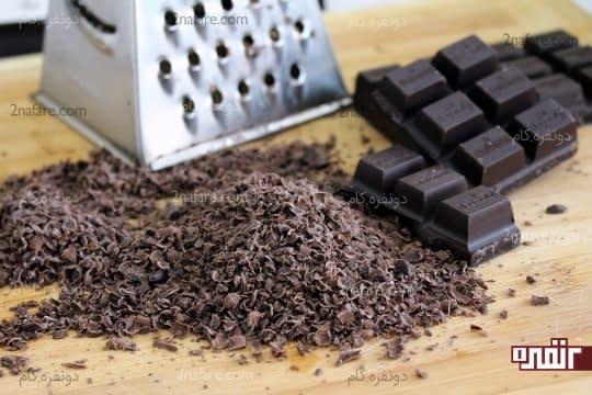 رنده کردن شکلات تخته ای