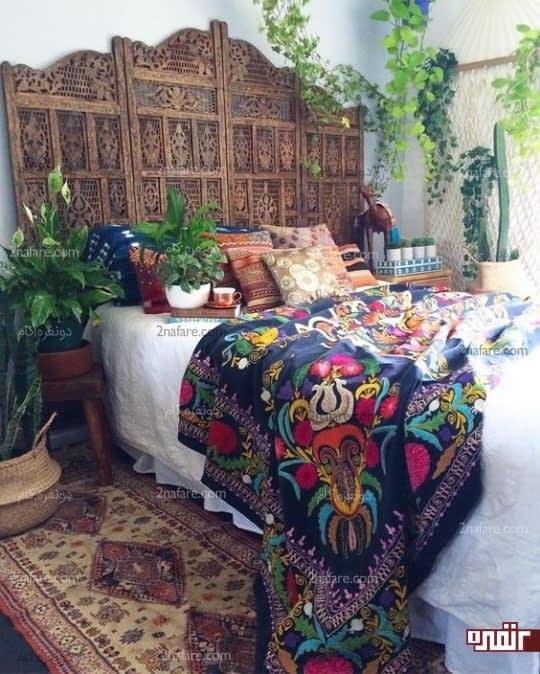 سبک بوهو در دکوراسیون اتاق خواب