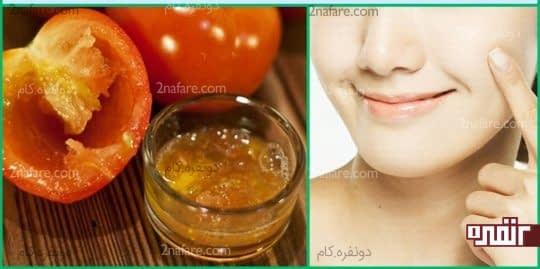 عسل و گوجه