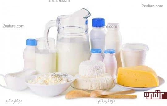 فرآورده های لبنی حاوی پروتئین هستند