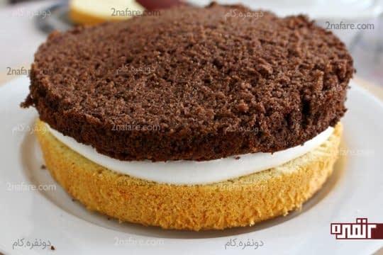 قرار دادن لایه بعدی کیک