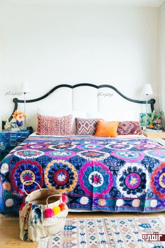 ملافه های رنگی و شاد برای اتاق خواب