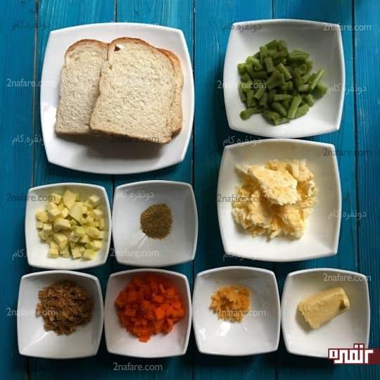 مواد لازم برای تهیه استیک سبزیجات