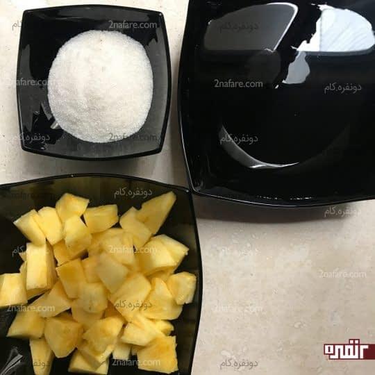 مواد لازم برای تهیه کمپوت آناناس