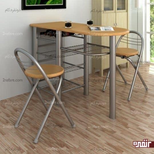 میزهای ظریف با فضای نگهداری از لوازم در زیر میز