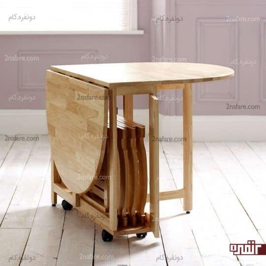 میز و صندلی های تاشو و مدرن صبحانه خوری
