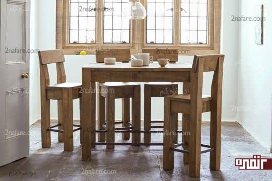 میز و صندلی های تمام چوب و منحصر بفرد