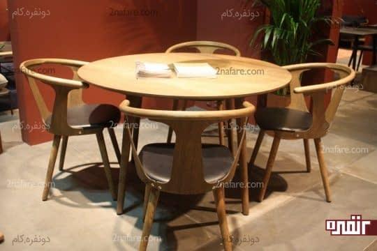 میز و صندلی های چوبی برای اتاق غذاخوری