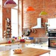 چراغ آویزهای رنگی و زیبا برای آشپزخانه