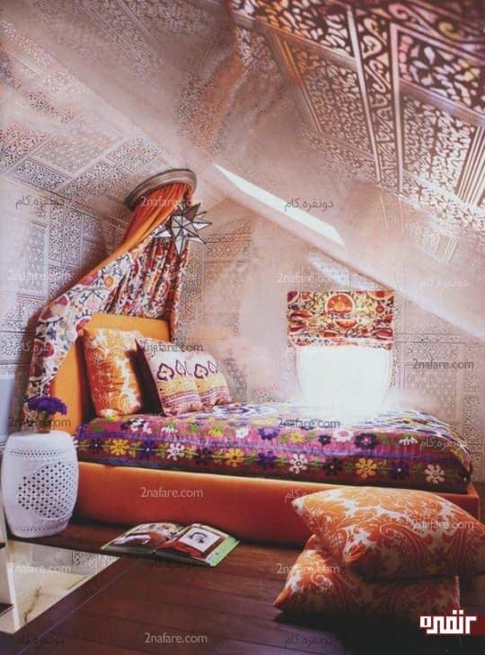 کاربرد رنگ ها در اتاق خواب بوهو