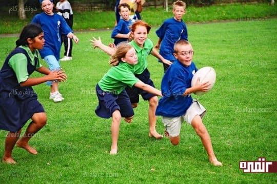 کاهش استرس بچه ها با شرکت در بازی های دسته جمعی