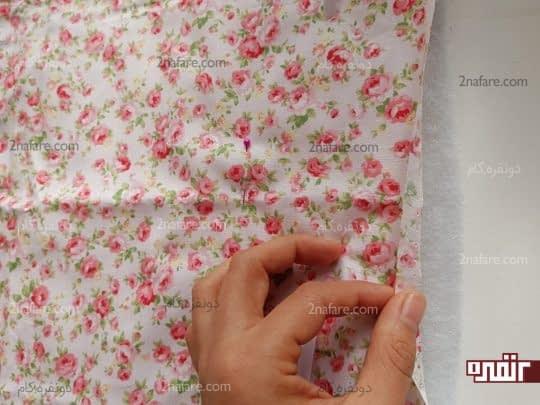 گذاشتن پارچه روی پشم شیشه