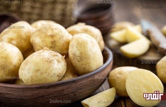 سیب زمینی برای درمان ورم معده
