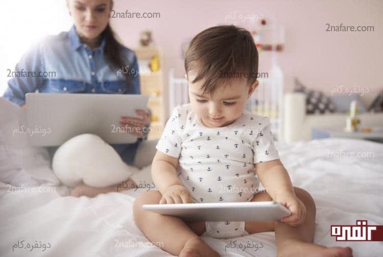 استفاده از گوشی و تبلت میتونه تاثیر منفی در یادگیری زبان بچه ها داشته باشه