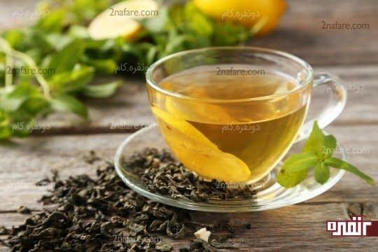 چای سبز و کاهش ورم معده