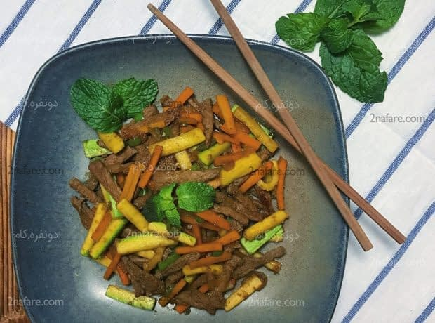 خوراک گوشت چینی
