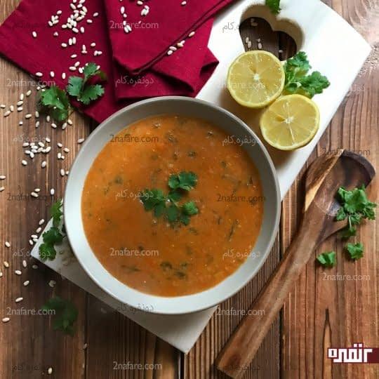 سوپ گوشت و سبزیجات