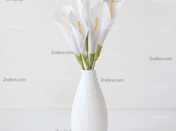 آموزش ساخت گل شیپوری با نمد