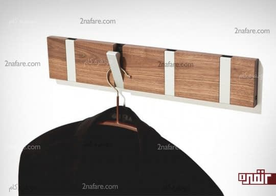 آویزهای تاشو با ترکیب چوب و فلز