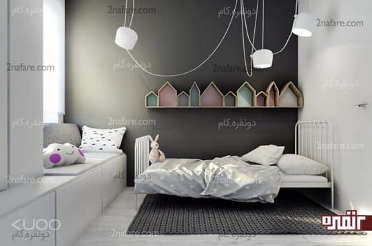 اتاق خواب کودکانه با طراحی خنثی