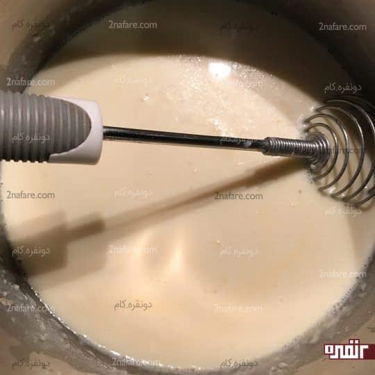 اضافه کردن کامل شیر