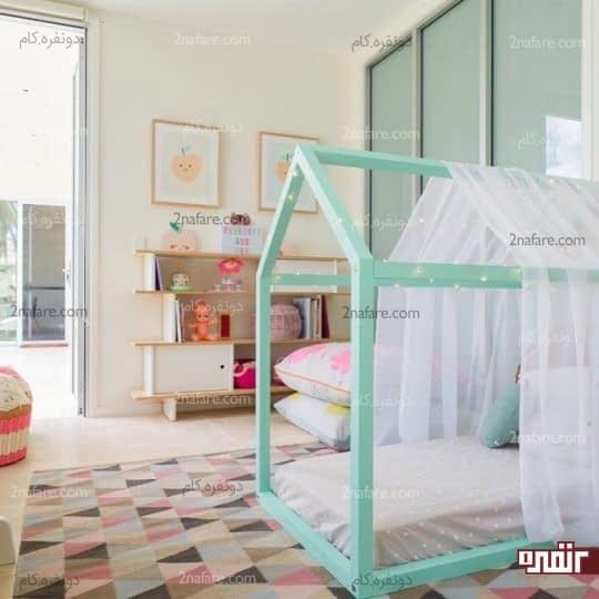 تخت خواب های زیبا در اتاق بچه ها