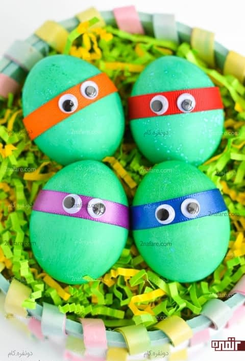 تخم مرغ با طرح لاک پشت های نینجا