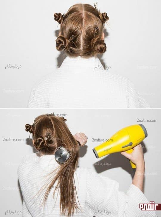 تقسیم بندی برای خشک کردن موها