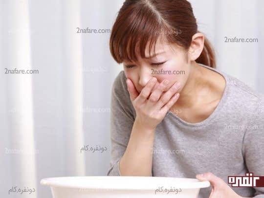 حالت تهوع و استفراغ از علائم ورم معده