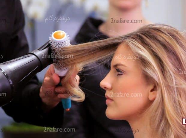 حالت دادن مو با سشوار