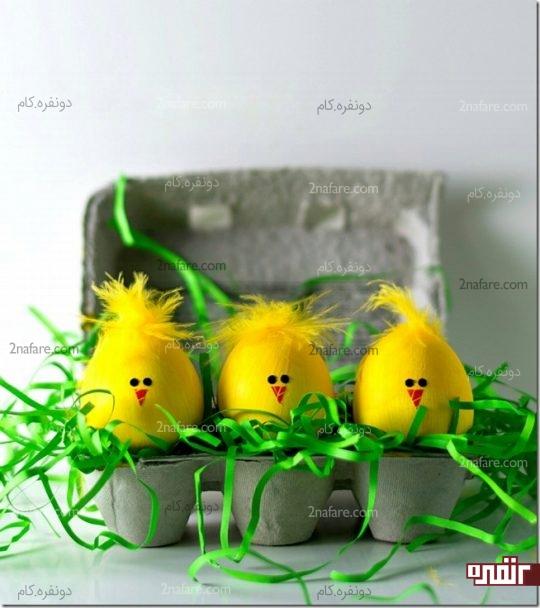درست کردن تخم مرغ به شکل جوجه
