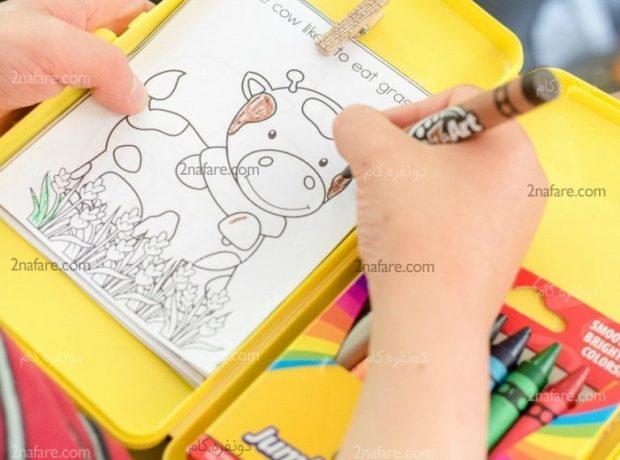 ساخت کیت رنگ آمیزی مسافرتی برای بچه ها