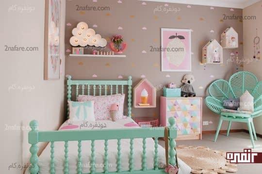شلف ها و اکسسوری های جذاب در اتاق کودکان